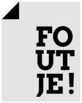 foutje